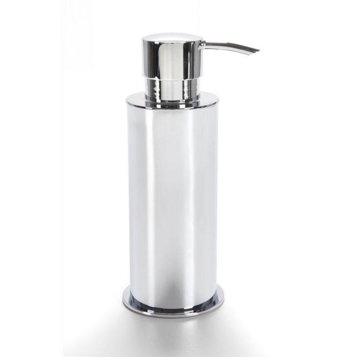 Porta Sabão Líquido Linha Basica Móvel Redondo 250 ml Cromado Banho Mais