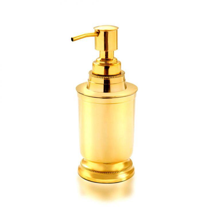 Porta Sabão Liquido Liso Dourado Banho Mais