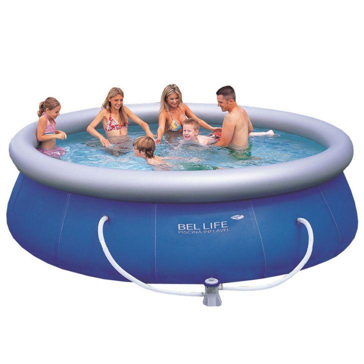 Piscina bel fix litros azul 110v for Calcular litros piscina