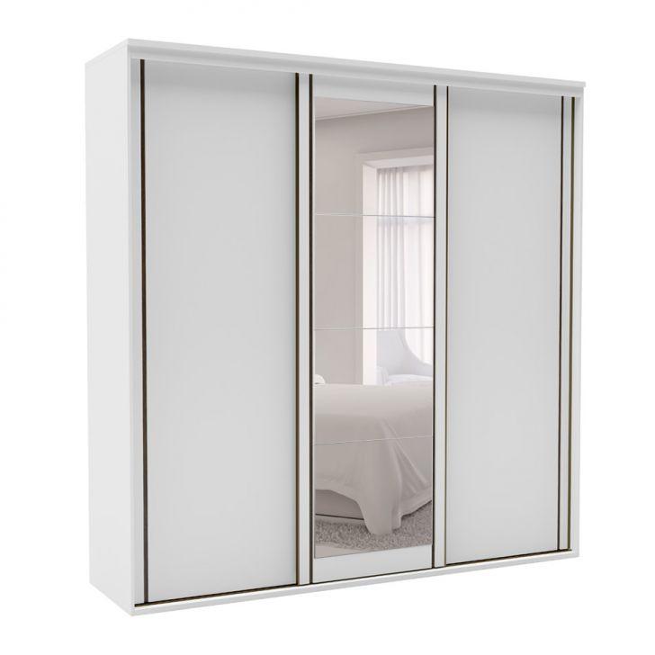 Guarda-Roupa Casal Inovatto I com Espelho 3 PT 6 GV Branco