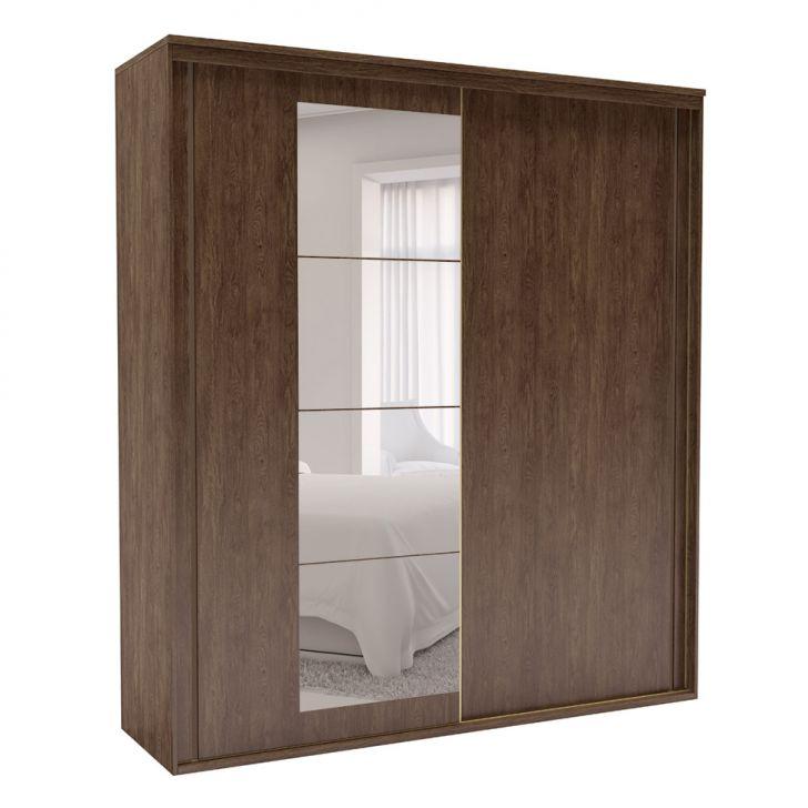 Guarda-Roupa Casal Inovatto com Espelho 2 PT 6 GV Marrom