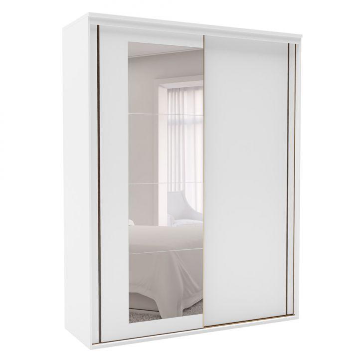 Guarda-Roupa Solteiro Inovatto com Espelho 3 PT 3 GV Branco