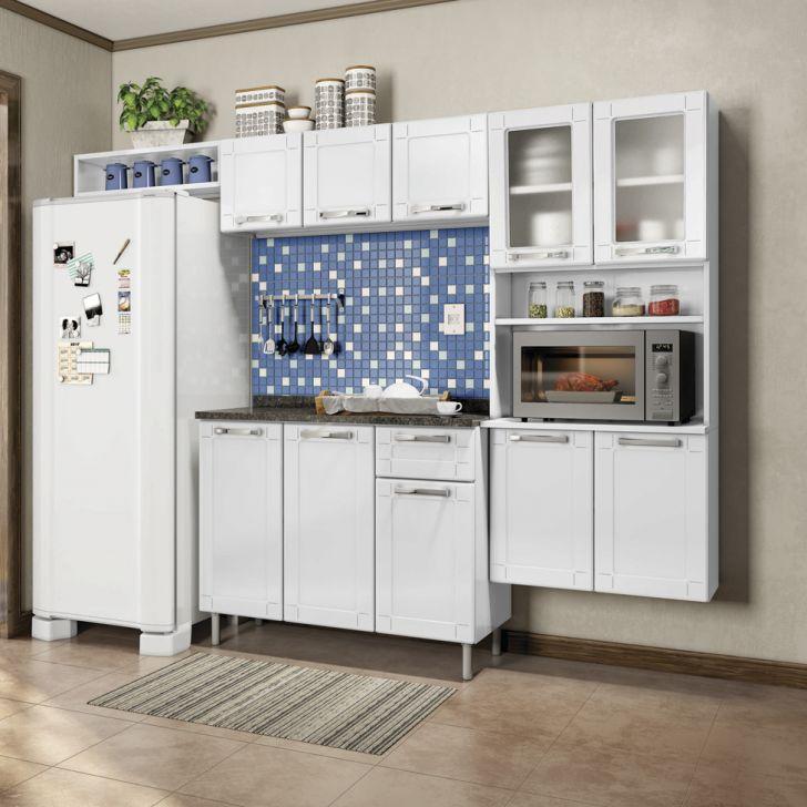 Cozinha Compacta Multipla 10 PT 1 Gaveta Branco