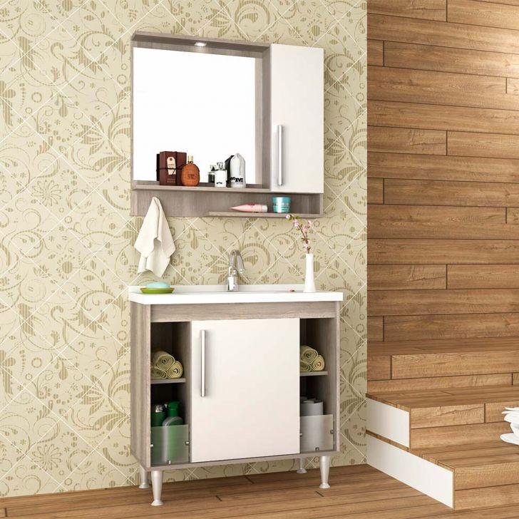 Foto 1 - Conjunto para Banheiro Brisa Barrique e Branco