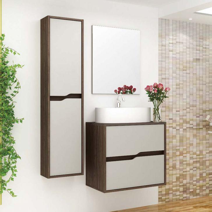 Conjunto para Banheiro Dubai Ameixa Negra e Cinza