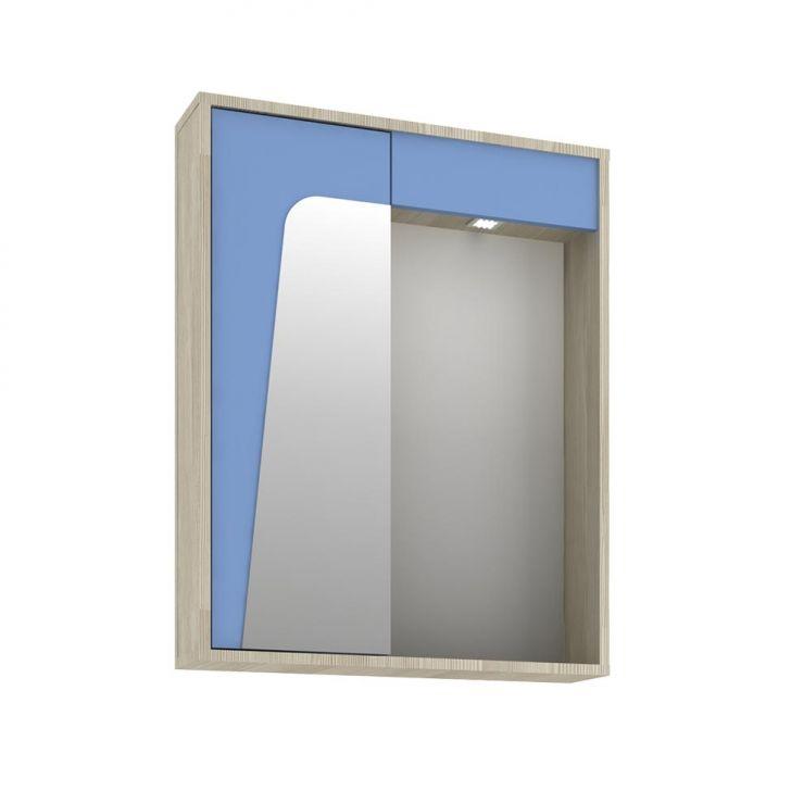 Foto 3 - Conjunto para Banheiro Elisa I Taeda e Azul Neon