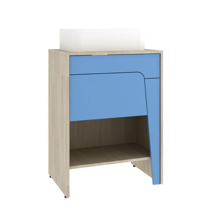 Foto 4 - Conjunto para Banheiro Elisa I Taeda e Azul Neon