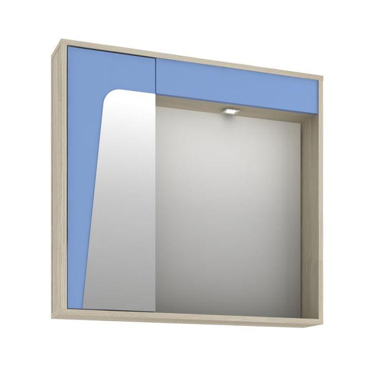 Foto 4 - Conjunto para Banheiro Elisa II Taeda e Azul Neon