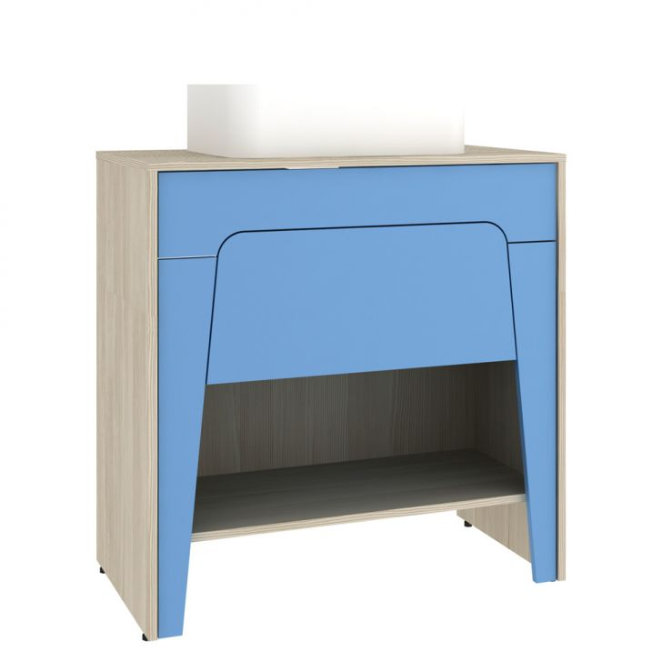 Foto 5 - Conjunto para Banheiro Elisa II Taeda e Azul Neon