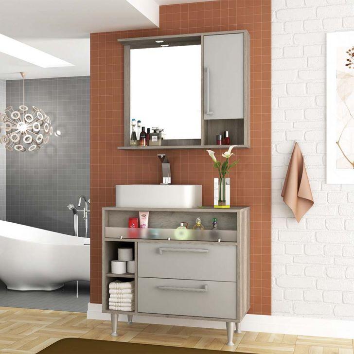 Foto 1 - Conjunto para Banheiro Luise Barrique e Nude