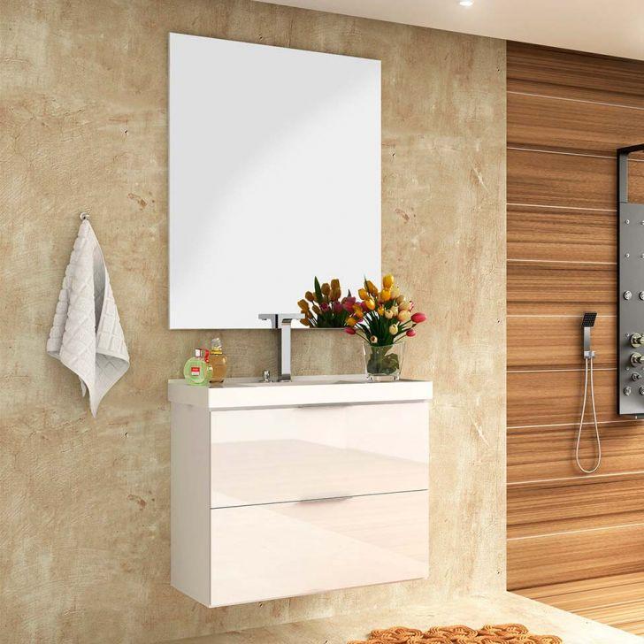 Foto 1 - Conjunto para Banheiro Pietra Branco