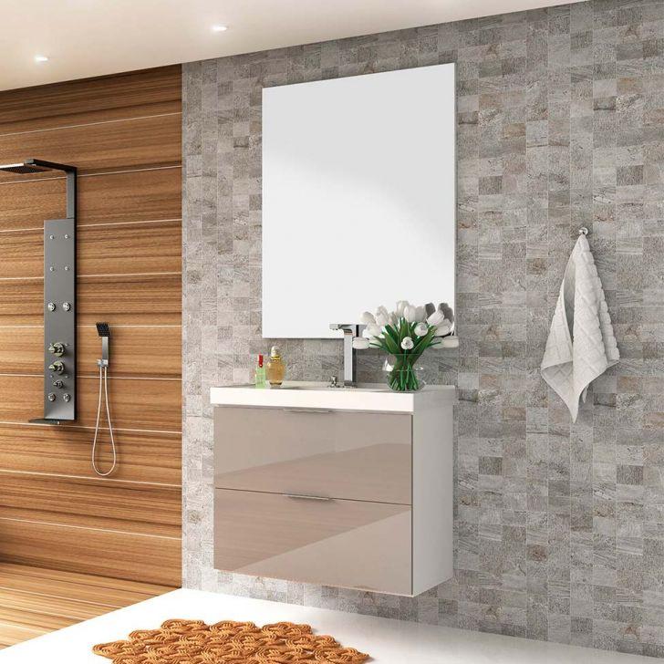 Conjunto para Banheiro Pietra Branco e Gianduia
