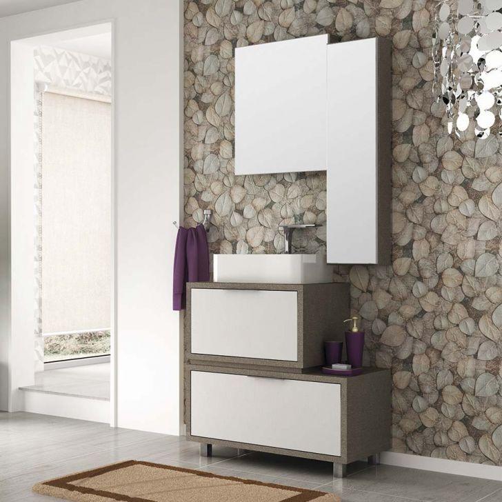 Foto 1 - Conjunto para Banheiro Vegas Tweed e Branco