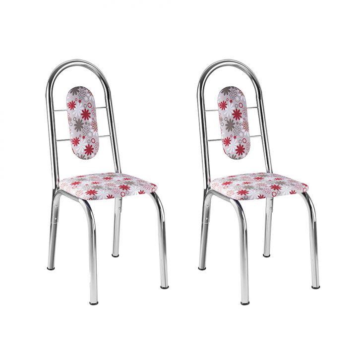 Conjunto de 2 Cadeiras Milah Vermelho