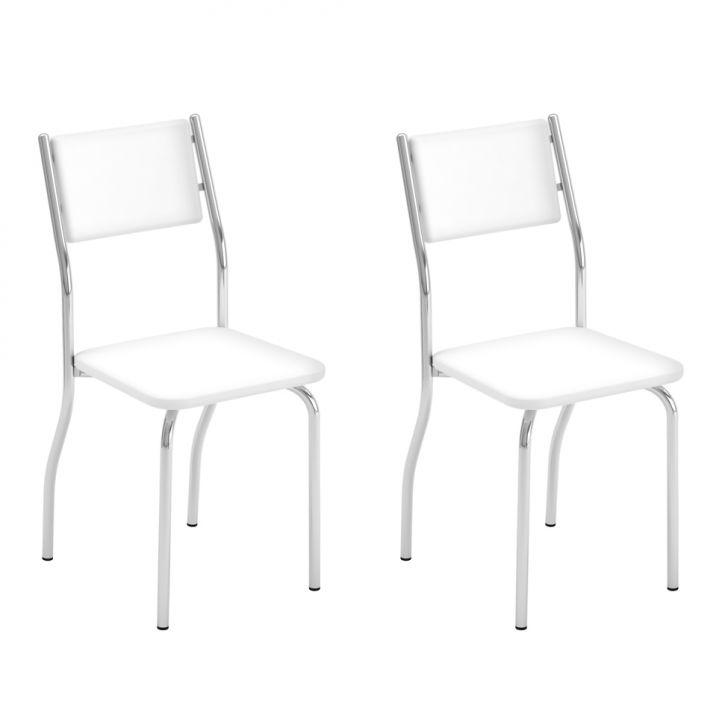 Conjunto Com 2 Cadeiras Dout Branco