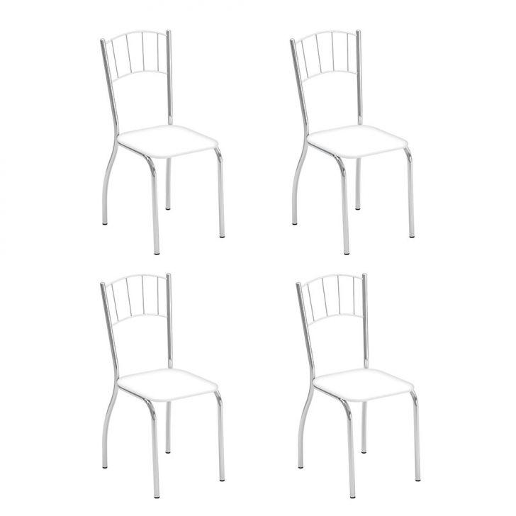 Conjunto Com 4 Cadeiras Positano Branco