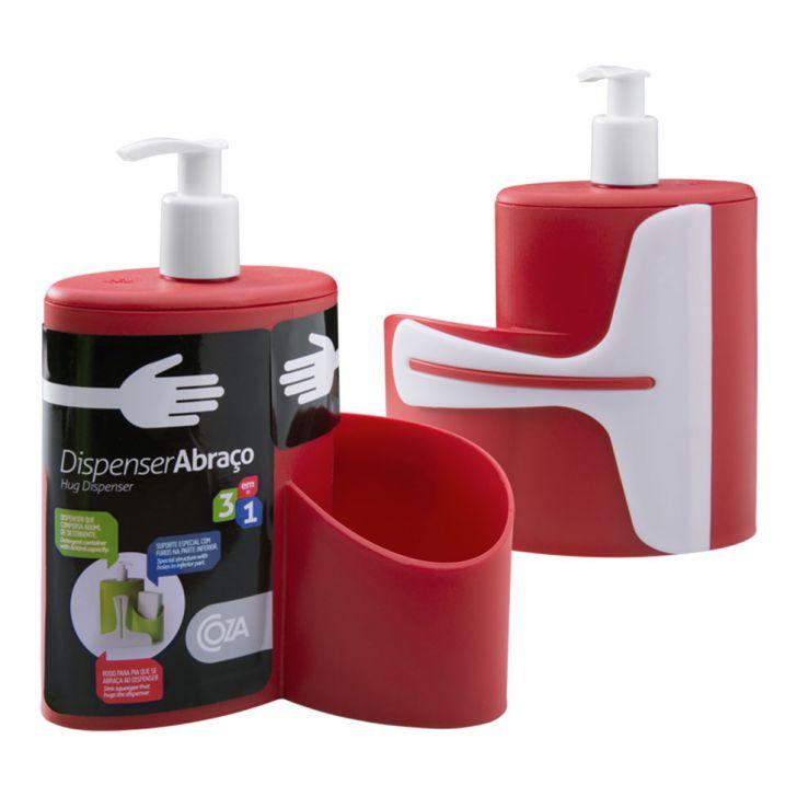 Dispenser Abraco 600Ml Vermelho Coza