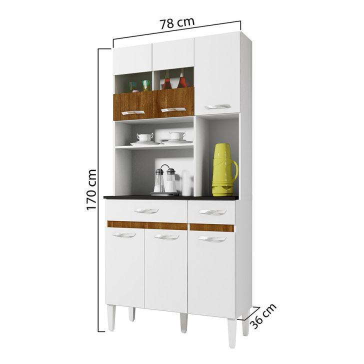 Foto 3 - Cozinha Compacta Ônix 6 PT 2 GV Branco e Caramelo