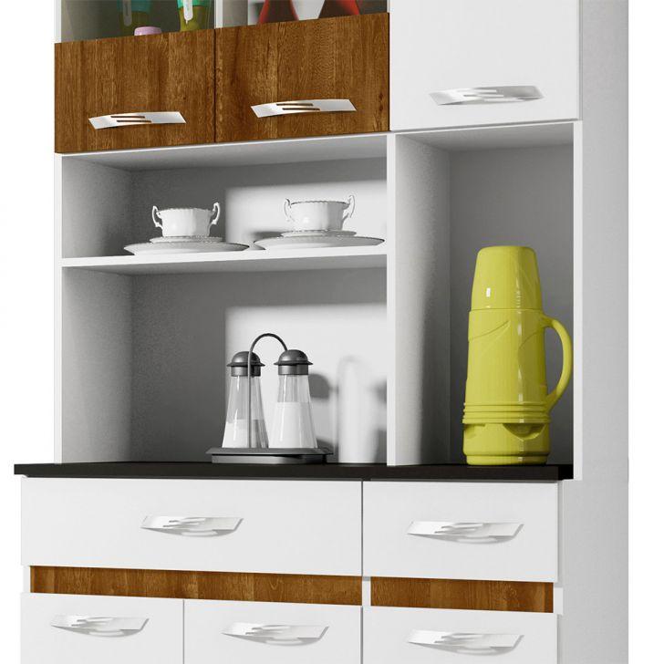 Foto 4 - Cozinha Compacta Ônix 6 PT 2 GV Branco e Caramelo