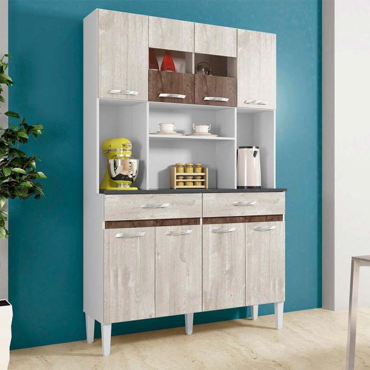 Cozinha Compacta Ônix 8 PT 2 GV Champanhe e Chocolate