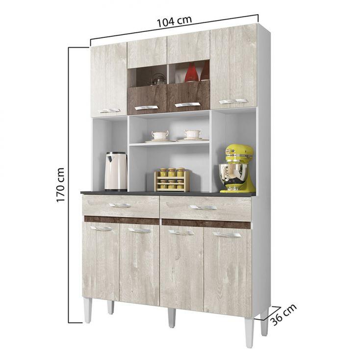 Foto 3 - Cozinha Compacta Ônix 8 PT 2 GV Champanhe e Chocolate
