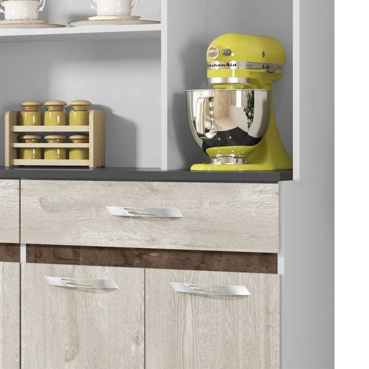 Foto 5 - Cozinha Compacta Ônix 8 PT 2 GV Champanhe e Chocolate