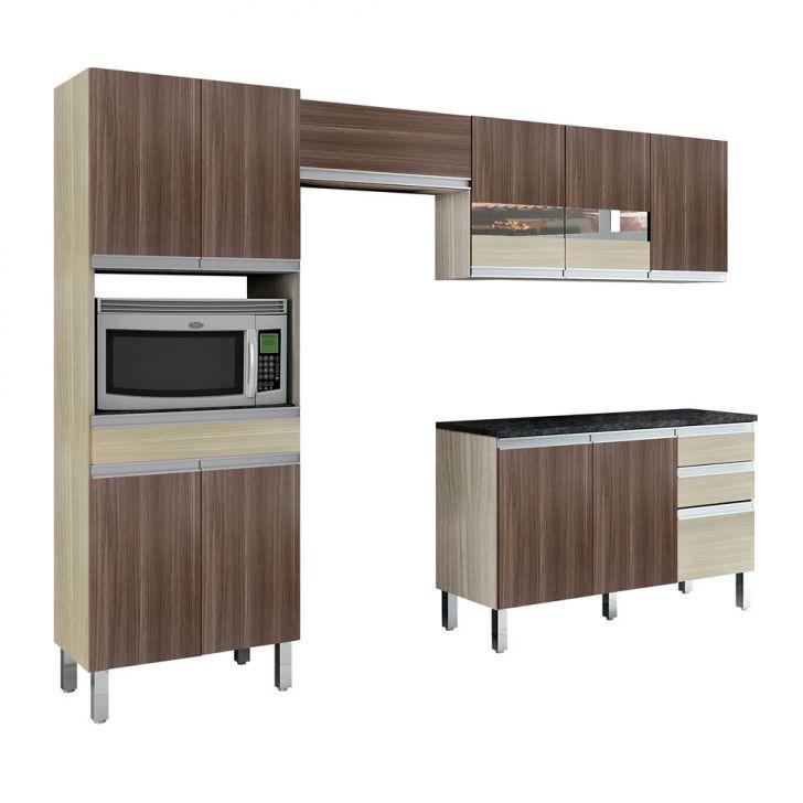 Foto 1 - Cozinha Compacta Turmalina 11 PT 3 GV Teka com Mocaccino