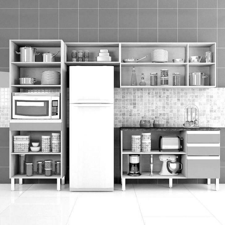 Foto 3 - Cozinha Compacta Turmalina 11 PT 3 GV Teka com Mocaccino