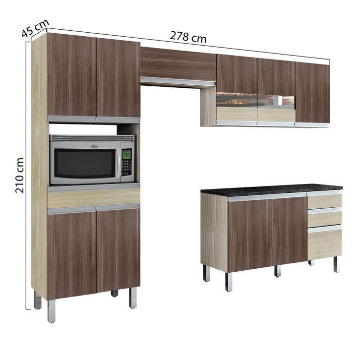 Foto 2 - Cozinha Compacta Turmalina 11 PT 3 GV Teka com Mocaccino