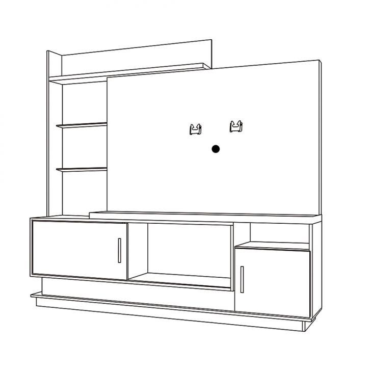 Foto 5 - Estante para Home Theater Adustina Caramelo 178 cm