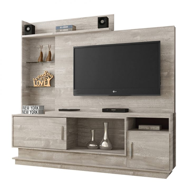 Estante para Home Theater Adustina Champanhe 178 cm