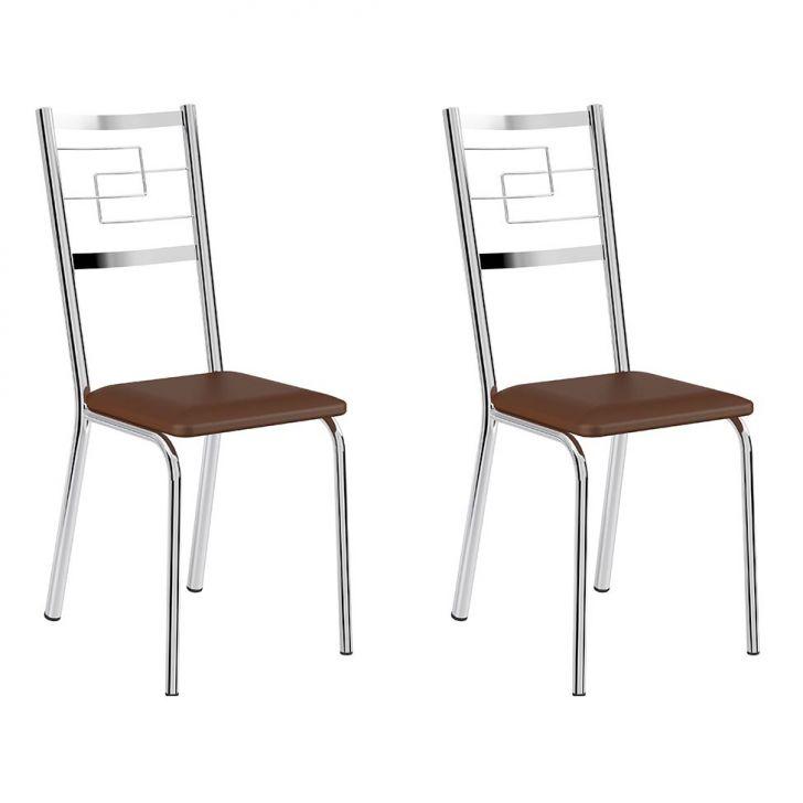 Conjunto com 2 Cadeiras Cerise II Marrom e69b9c15076