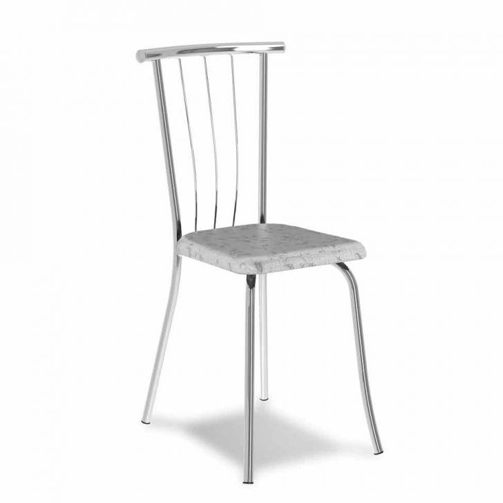 Cadeira Cromada 0154 Fantasia Branca Carraro