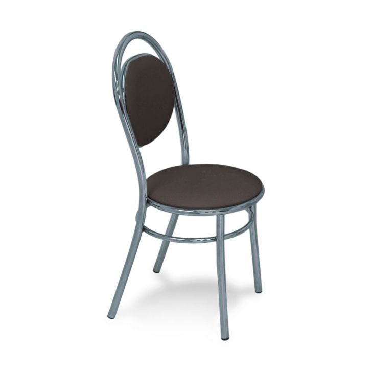 Cadeira Cromada 0190 Cacau Carraro