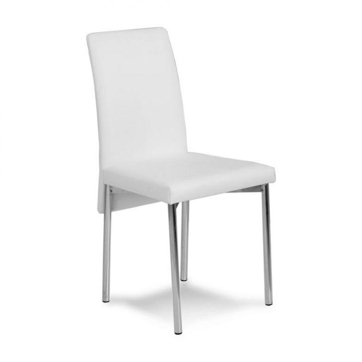 Cadeira Cromada 0306 Couríssimo Branca | Carraro Móveis