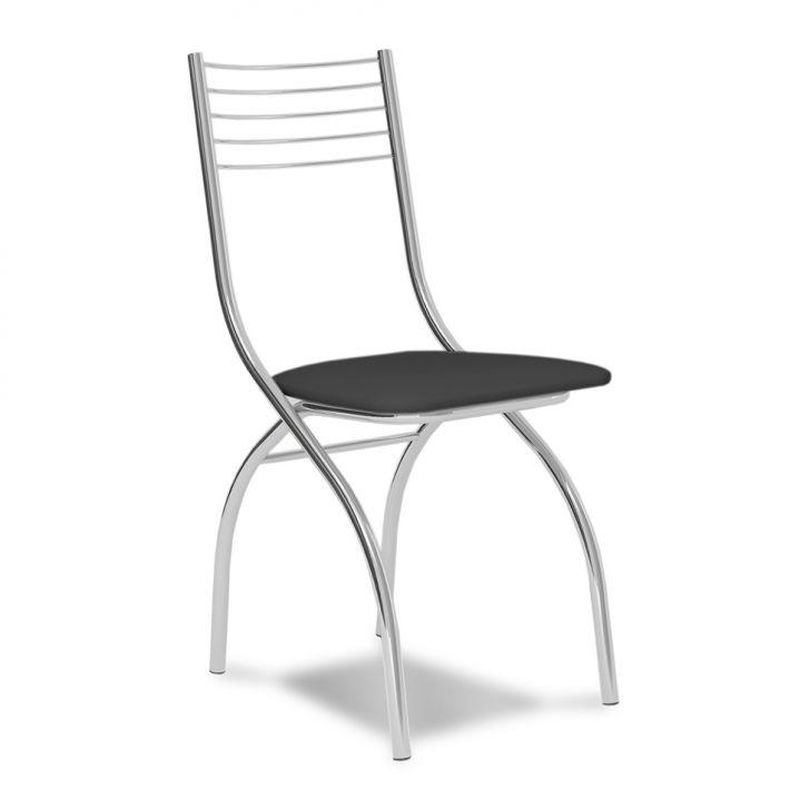 Cadeira Cromada Fred Preta