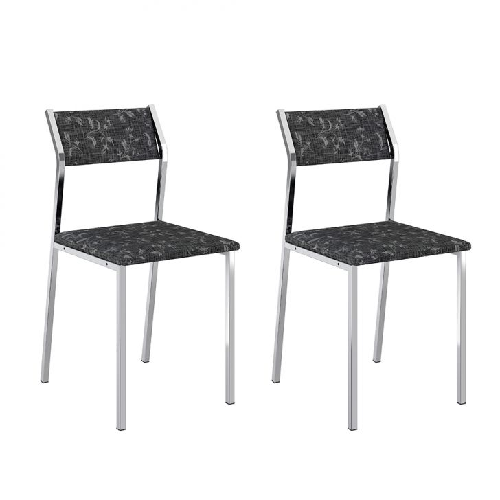 Conjunto 2 Cadeiras 1709 Fantasia Preto
