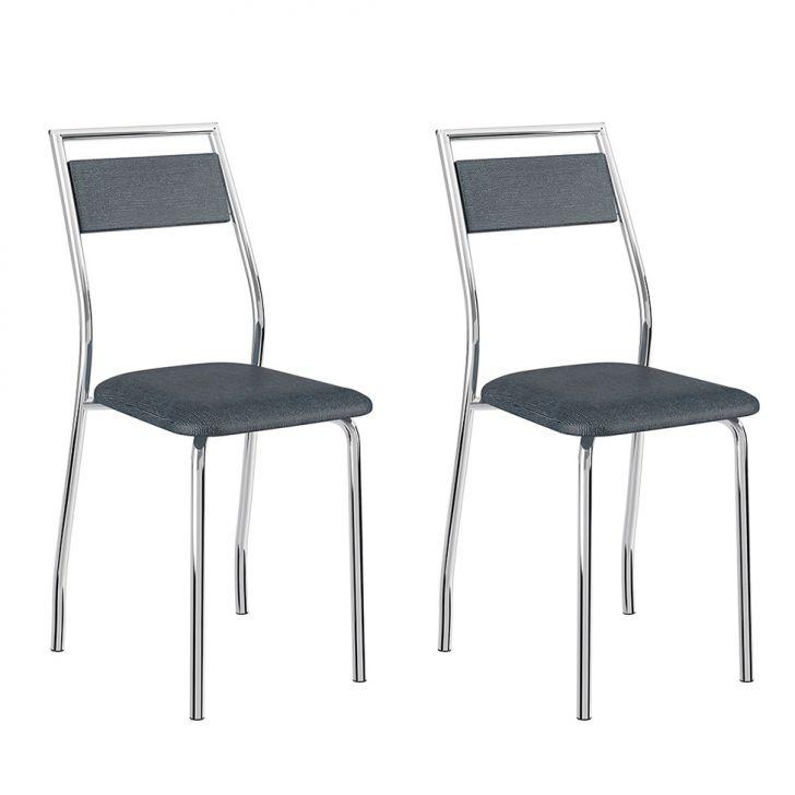 Conjunto 2 Cadeiras 1717 Casual Napa Jean Cromado