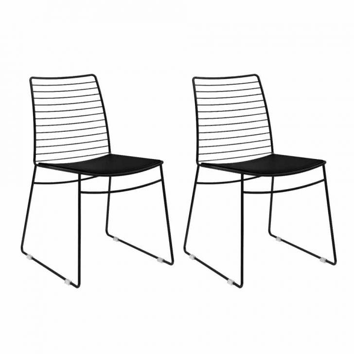 Conjunto com 2 Cadeiras Dance Preto