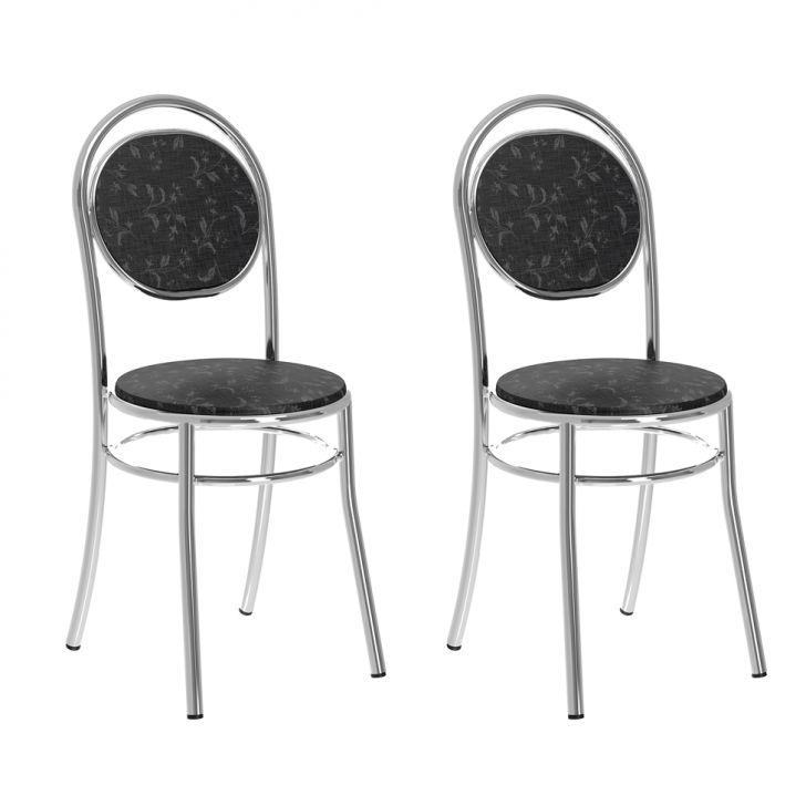Conjunto de 2 Cadeiras Argirita II Preto
