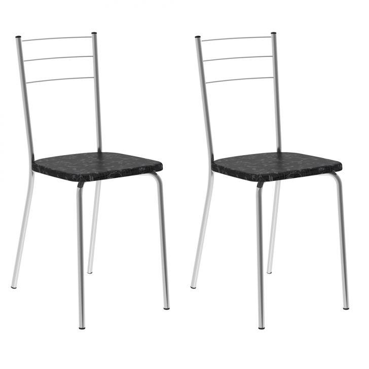 Conjunto de 2 Cadeiras Cipotanea II Preto
