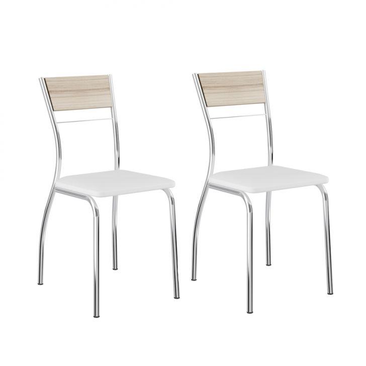 Conjunto de 2 Cadeiras Clássica II Anis e Branco