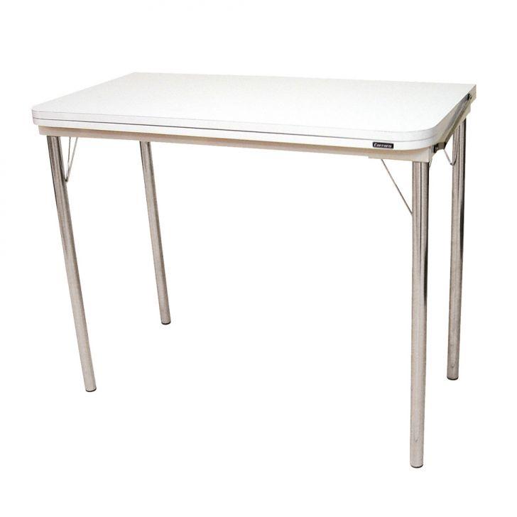 Mesa multiuso dobr vel cristal branca 90 cm for Mesa cristal 90 cm