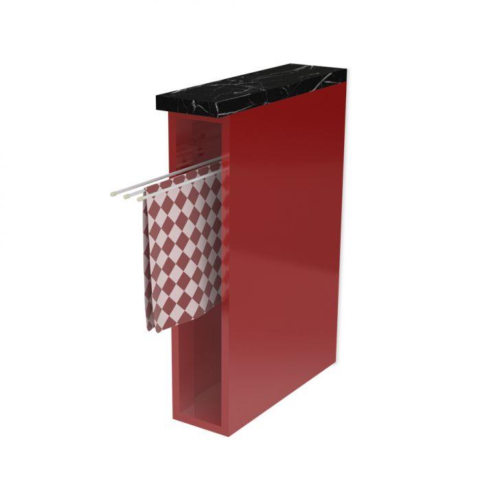 Módulo de Cozinha Foggia Vermelho