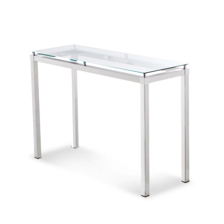 Fita Adesiva De Alto Impacto ~ Aparador de Alumínio Polido com Vidro de 4 mm Incolor