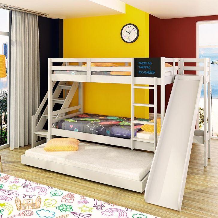 Beliche teen play c cama auxiliar escorregador escada - Mesa auxiliar de cama ...