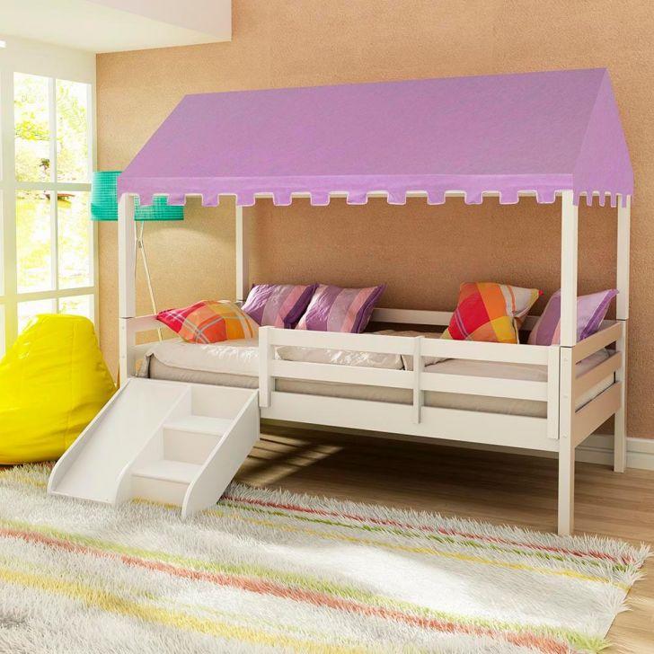 Cama infantil prime com grade de prote o telhado - Doseles para camas infantiles ...