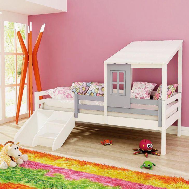 Cama infantil prime com telhadinho ii e grade de prote o - Doseles para camas infantiles ...