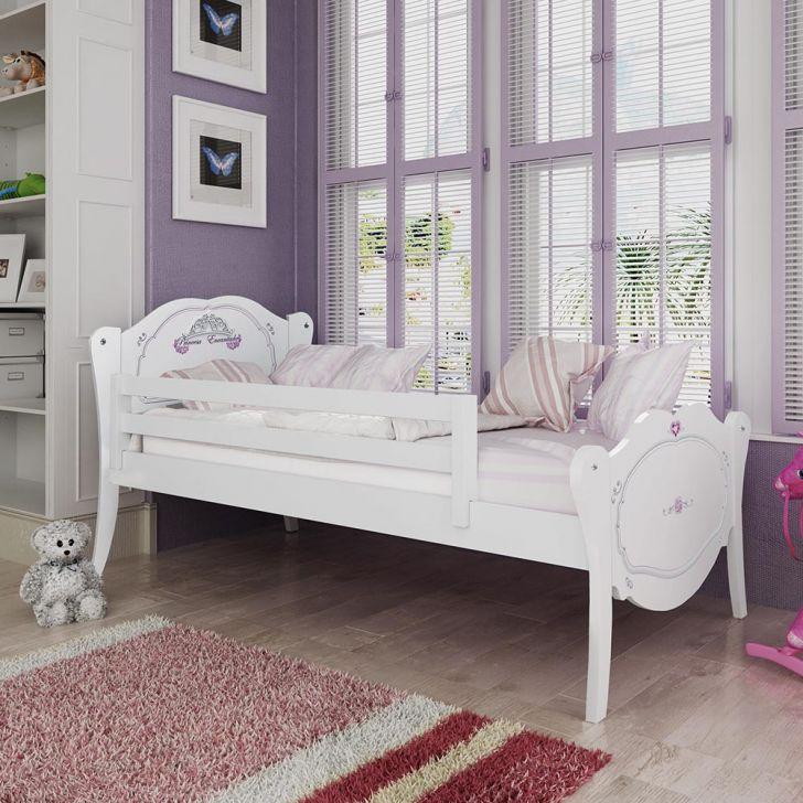 Cama infantil princesa encantada com grade de prote o - Dosel para cama infantil ...