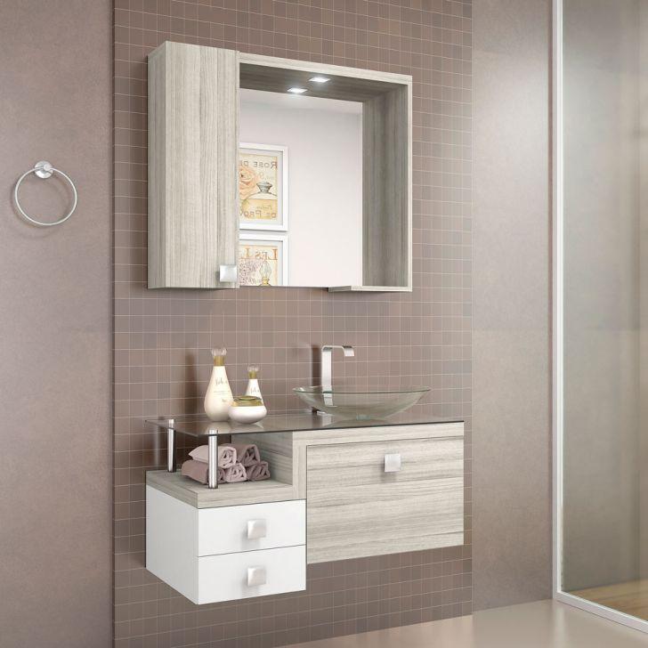 Foto 2 - Conjunto Para Banheiro Montreal Nogal Griss